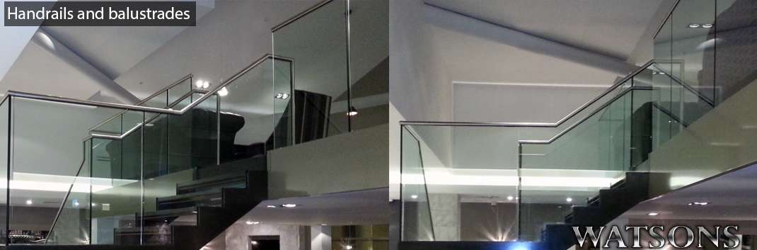 Polished handrails and balustrades